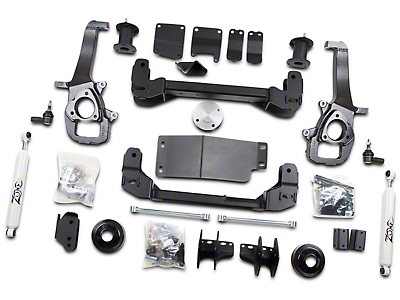 Zone Offroad 4 in. Suspension Lift Kit w/ Shocks (13-18 4WD RAM 1500 w/o Air Ride Suspension)