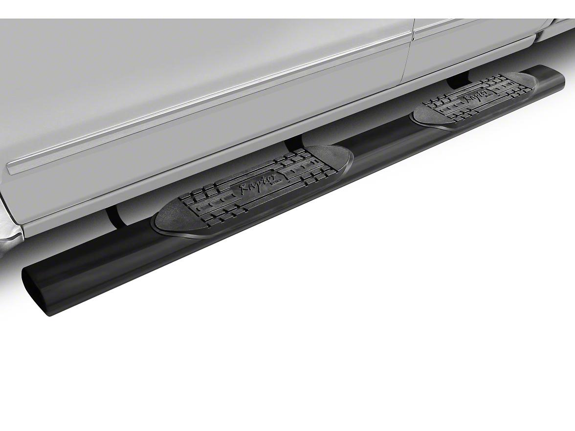 Raptor Series 6 in. Magnum Straight Oval Side Step Bars - Black (02-08 RAM 1500 Quad Cab, Excluding Daytona, Rumble Bee & SRT10)