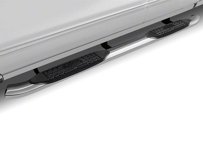 Raptor Series 4 in. OE Style Curved Oval Side Step Bars - Polished Stainless (02-08 RAM 1500 Regular Cab, Quad Cab, Excluding Daytona, Rumble Bee & SRT10)