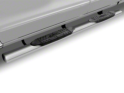 Raptor Series 5 in. Magnum Straight Oval Side Step Bars - Stainless Steel (02-08 RAM 1500 Regular Cab, Quad Cab, Excluding Daytona, Rumble Bee & SRT10)