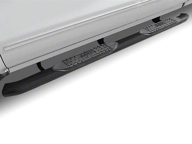 Raptor Series 4 in. OE Style Curved Oval Side Step Bars - Black (09-18 RAM 1500)