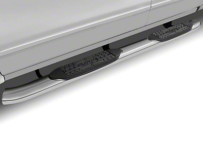 Raptor Series 5 in. OE Style Curved Oval Side Step Bars - Polished Stainless (09-18 RAM 1500)