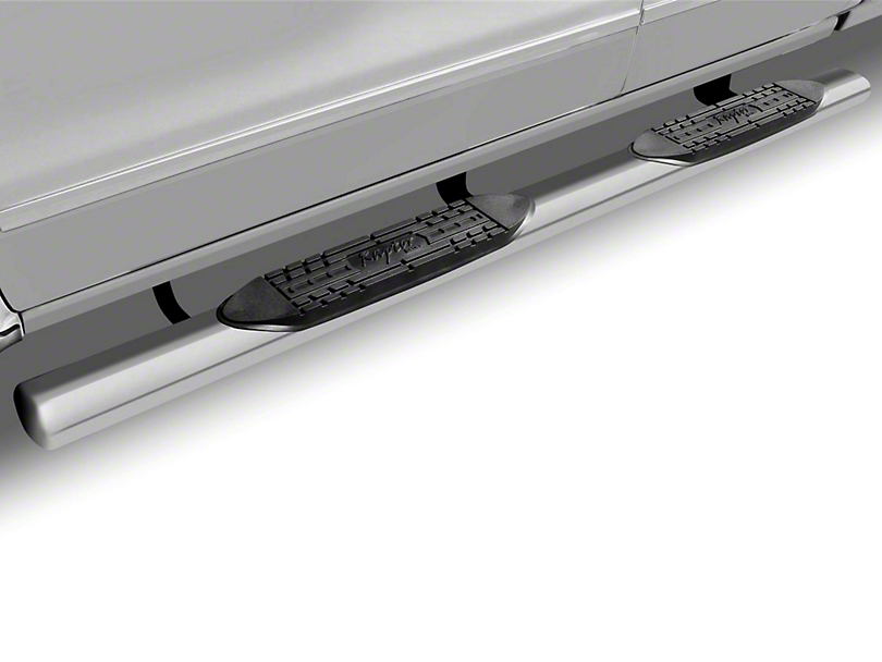 Raptor Series 5 in. Magnum Straight Oval Side Step Bars - Polished Stainless (09-18 RAM 1500)