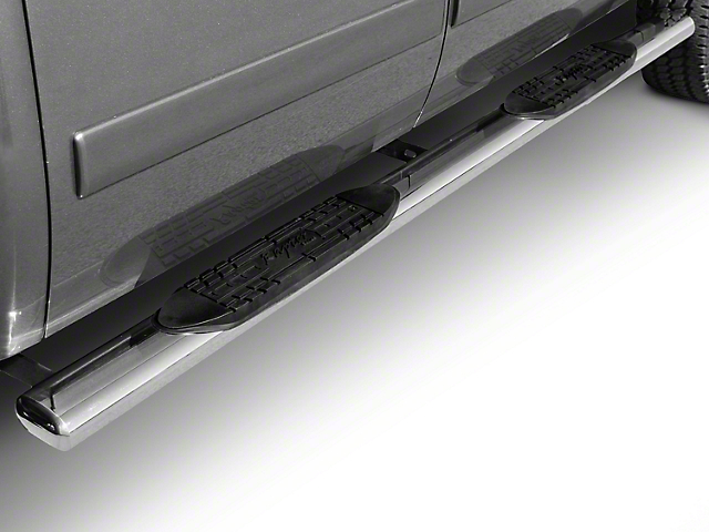 Raptor Series 6 in. Magnum Straight Oval Side Step Bars - Black (09-18 RAM 1500 Quad Cab, Crew Cab)