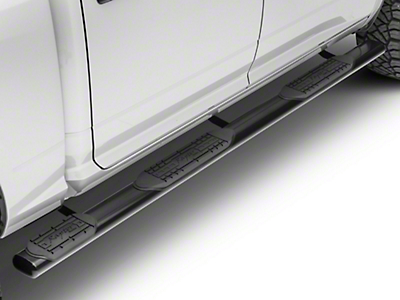 Raptor Series 5 in. Oval Wheel to Wheel Side Step Bars - Black (09-18 RAM 1500 Quad Cab, Crew Cab)
