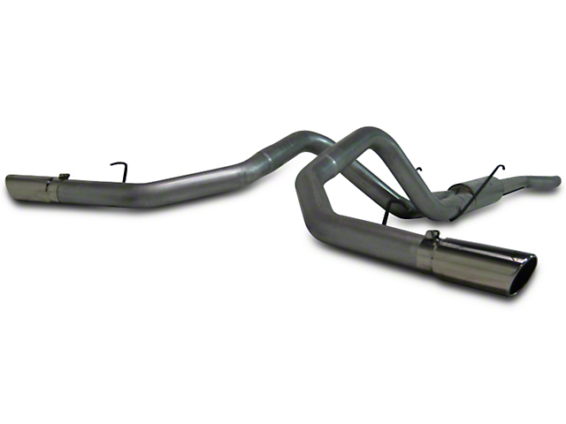 MBRP 3 5 in  Installer Series Dual Exhaust System - Side Exit (06-08 5 7L  RAM 1500)