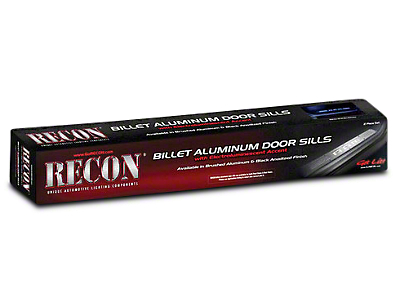 Recon Billet Aluminum Illuminated Door Sills - Front Doors - Brushed Finish (02-13 RAM 1500)