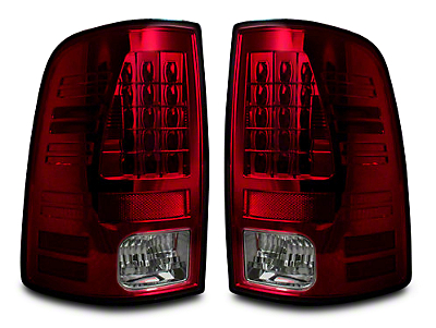 Recon LED Tail Lights - Red Smoked Lens (09-18 RAM 1500)