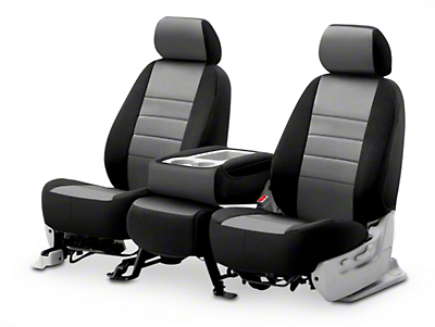 Fia Custom Fit Neoprene Front Seat Covers - Gray (02-08 RAM 1500 w/ Bench Seat)