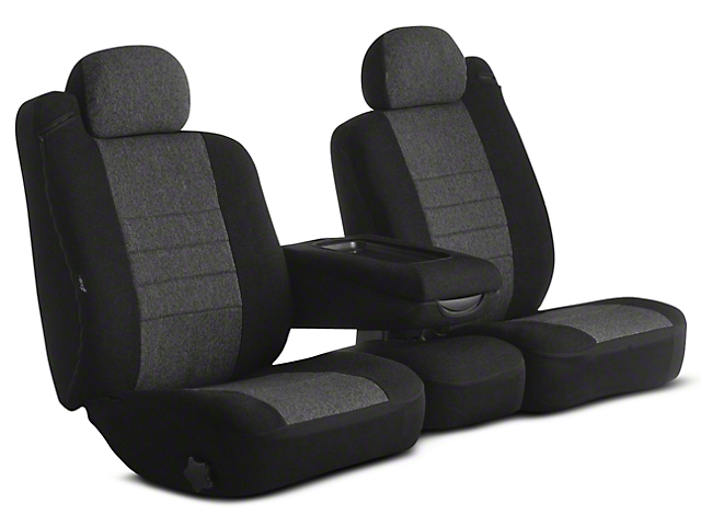 Fia Custom Fit Tweed Front Seat Covers - Charcoal (02-08 RAM 1500 w/ Bench Seat)