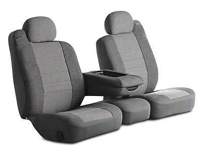 Fia Custom Fit Tweed Front Seat Covers - Gray (02-08 RAM 1500 w/ Bench Seat)