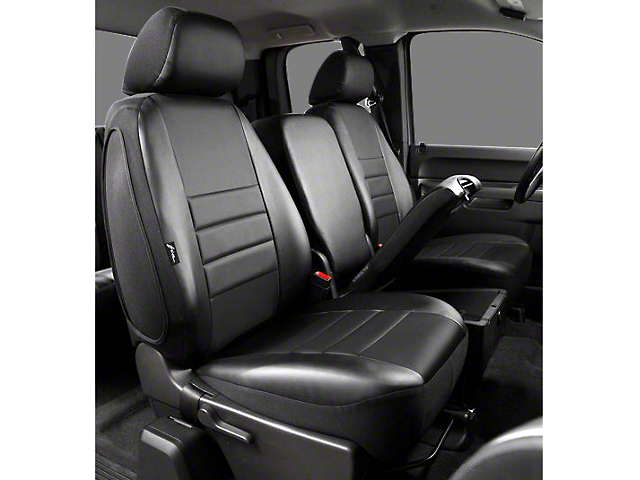 Fia Custom Fit Leatherlite Front Seat Covers - Black (02-08 RAM 1500 w/ Bench Seat)