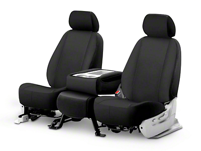Fia Custom Fit Poly-Cotton Front Seat Covers - Black (02-08 RAM 1500 w/ Bench Seat)