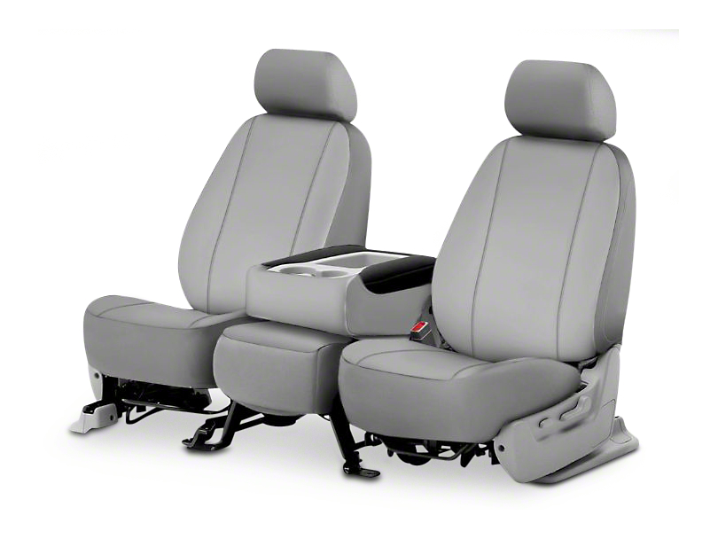 Fia Custom Fit Poly-Cotton Front Seat Cover - Gray (02-08 RAM 1500 w/ Bench Seat)