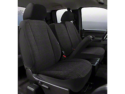 Fia Custom Fit Saddle Blanket Front Seat Covers - Black (02-08 RAM 1500 w/ Bench Seat)