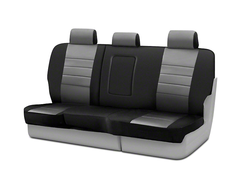 Fia Custom Fit Neoprene Rear Seat Cover - Gray (02-08 RAM 1500 Quad Cab, Mega Cab)