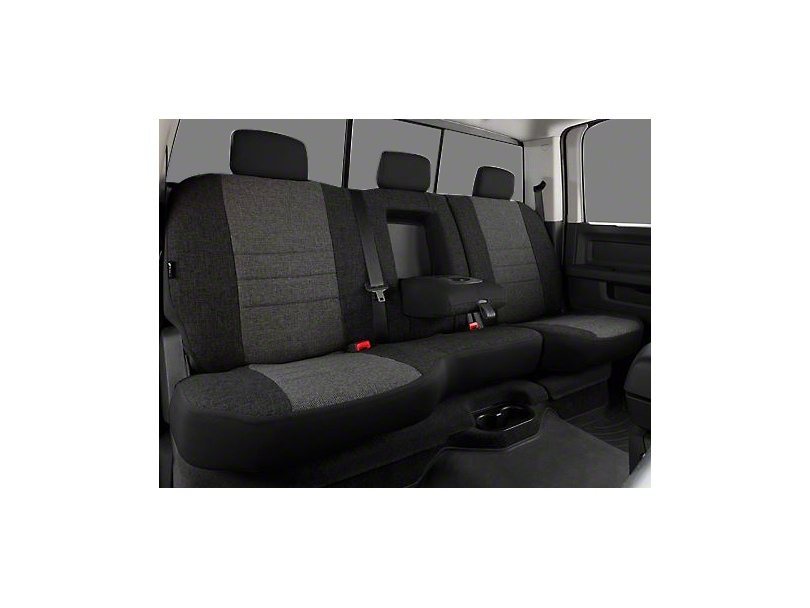 Fia Custom Fit Tweed Rear Seat Cover - Charcoal (02-08 RAM 1500 w/ Bench Seat)