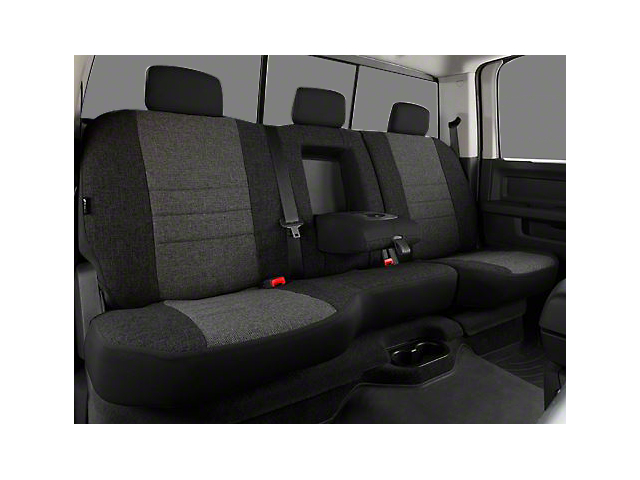 Fia Custom Fit Tweed Rear Seat Cover; Charcoal (02-08 RAM 1500 w/ Bench Seat)