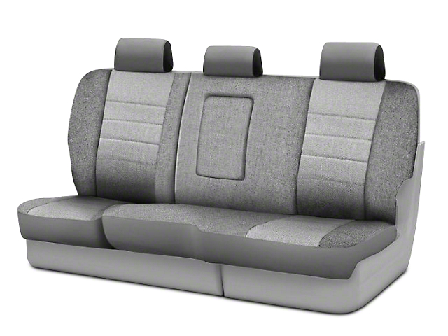 Fia Custom Fit Tweed Rear Seat Cover - Gray (02-08 RAM 1500 Quad Cab, Mega Cab)