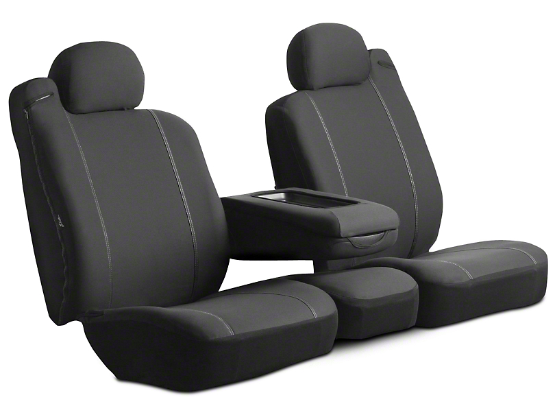 Fia Custom Fit Poly-Cotton Rear Seat Cover - Black (02-08 RAM 1500 Quad Cab, Mega Cab)