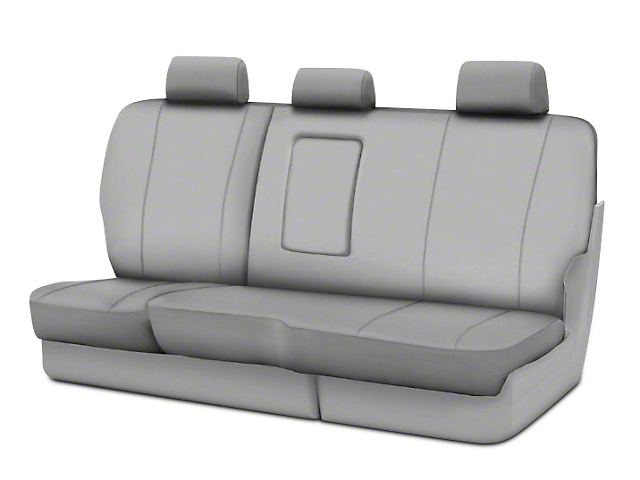 Fia Custom Fit Poly-Cotton Rear Seat Cover - Gray (02-08 RAM 1500 Quad Cab, Mega Cab)