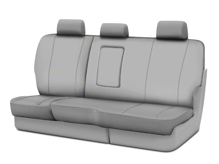 Fia Custom Fit Poly-Cotton Rear Seat Cover - Gray (02-08 RAM 1500 Quad Cab, Mega Cab)