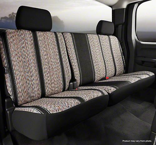 Fia Custom Fit Saddle Blanket Rear Seat Cover - Black (02-08 RAM 1500 Quad Cab, Mega Cab)