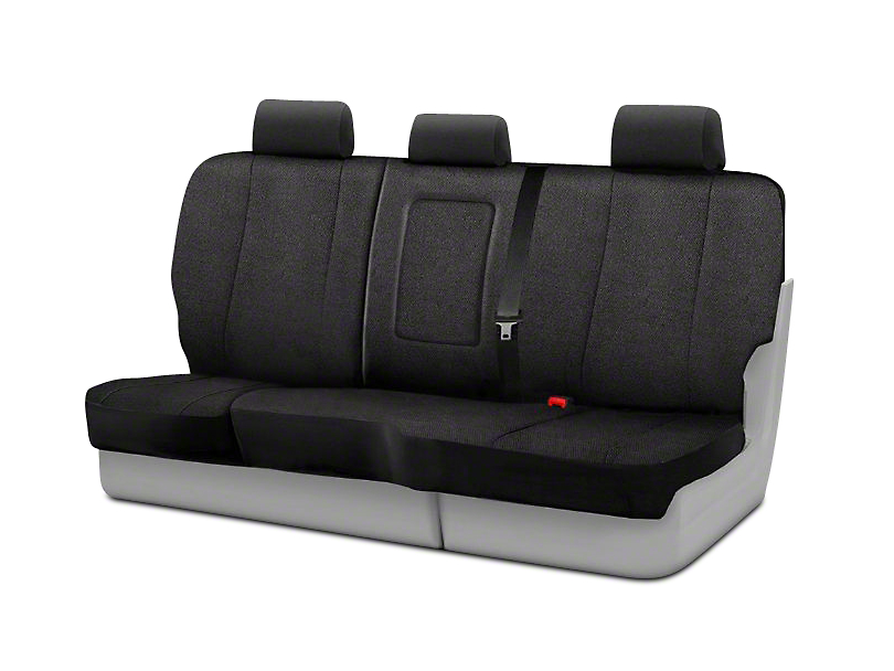 Fia Custom Fit Solid Saddle Blanket Rear Seat Cover - Black (02-08 RAM 1500 Quad Cab, Mega Cab)
