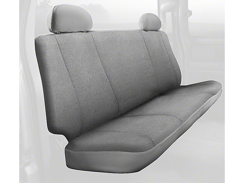 Fia Custom Fit Solid Saddle Blanket Rear Seat Cover - Gray (02-08 RAM 1500 Quad Cab, Mega Cab)