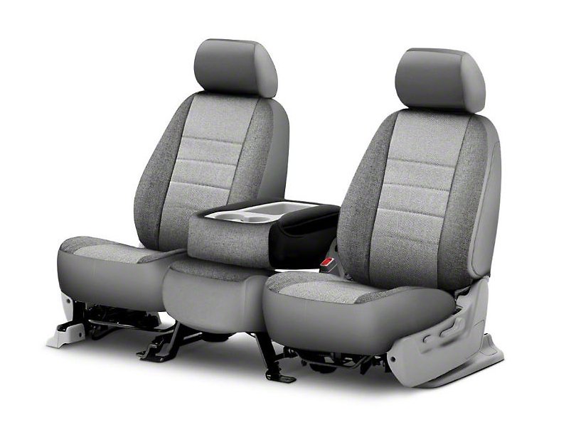 Fia Custom Fit Tweed Front Seat Covers - Gray (06-08 RAM 1500 w/ Bucket Seats)
