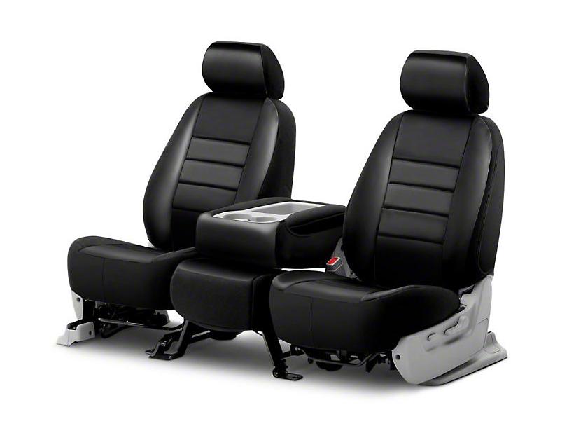 Fia Custom Fit Leatherlite Front Seat Covers - Black (06-08 RAM 1500 w/ Bucket Seats)