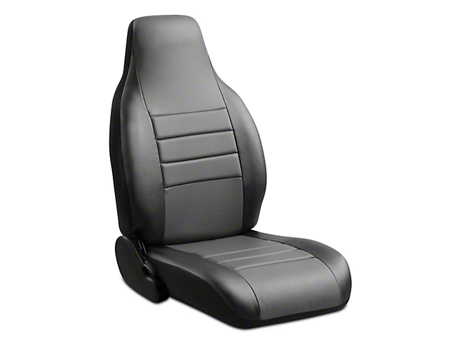 Fia Custom Fit Leatherlite Front Seat Covers - Gray (06-08 RAM 1500 w/ Bucket Seats)