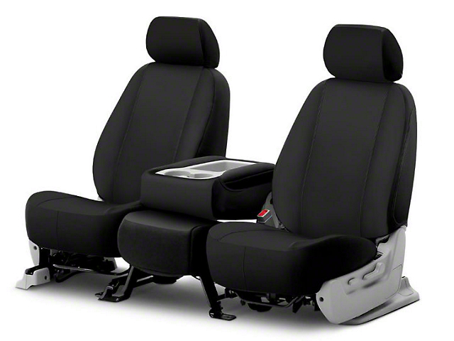Fia Custom Fit Poly-Cotton Front Seat Covers - Black (06-08 RAM 1500 w/ Bucket Seats)
