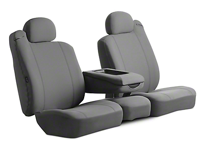 Fia Custom Fit Poly-Cotton Front Seat Covers - Gray (06-08 RAM 1500 w/ Bucket Seats)
