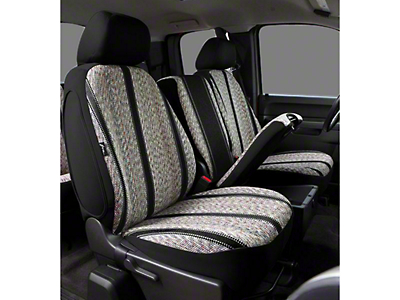 Fia Custom Fit Saddle Blanket Front Seat Covers - Black (06-08 RAM 1500 w/ Bucket Seats)