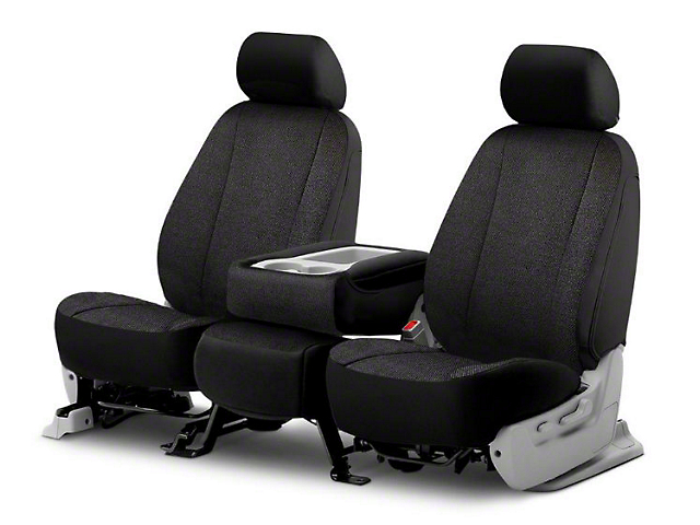 Fia Custom Fit Solid Saddle Blanket Front Seat Covers - Black (06-08 RAM 1500 w/ Bucket Seats)