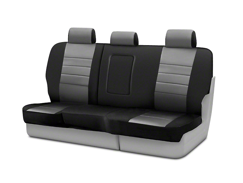Fia Custom Fit Neoprene Rear Seat Cover - Gray (09-18 RAM 1500 Quad Cab, Crew Cab)