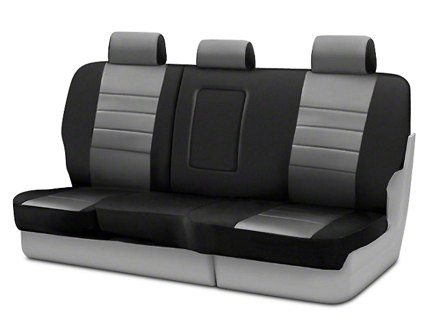 Fia Custom Fit Neoprene Rear Seat Cover - Gray (09-18 RAM 1500 Quad Cab, Crew Cab)