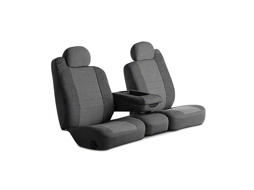 Fia Custom Fit Tweed Rear Seat Cover - Gray (09-18 RAM 1500 Quad Cab, Crew Cab)