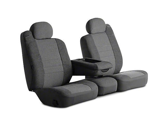 Fia Custom Fit Tweed Rear Seat Cover - Gray (09-18 RAM 1500 Quad Cab, Crew Cab)