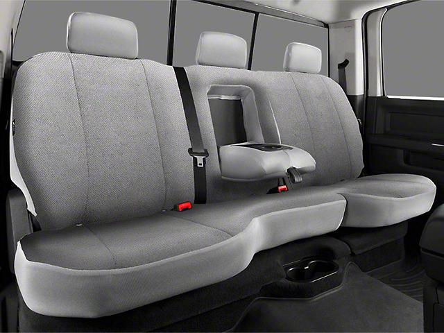 Fia Seat Covers >> Fia RAM Custom Fit Solid Saddle Blanket Rear Seat Cover - Gray R102111 (09-17 RAM 1500 Quad Cab ...