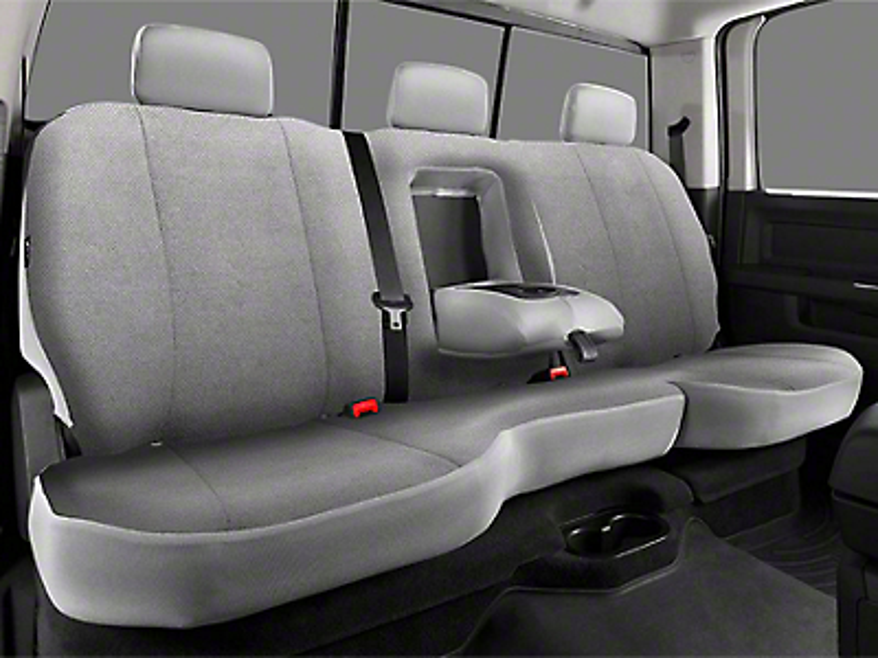 Fia Custom Fit Solid Saddle Blanket Rear Seat Cover - Gray (09-18 RAM 1500 Quad Cab, Crew Cab)