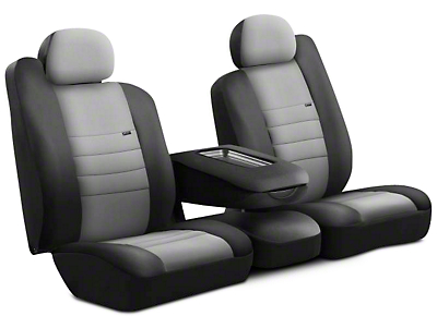 Fia Custom Fit Neoprene Front Seat Cover - Gray (09-18 RAM 1500 w/ Bench Seat)