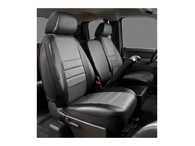 Fia Custom Fit Leatherlite Front Seat Cover - Gray (09-18 RAM 1500 w/ Bench Seat)