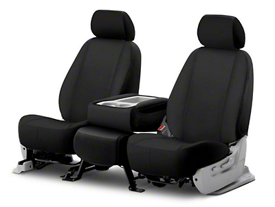 Fia Custom Fit Poly-Cotton Front Seat Cover - Black (09-18 RAM 1500 w/ Bench Seat)