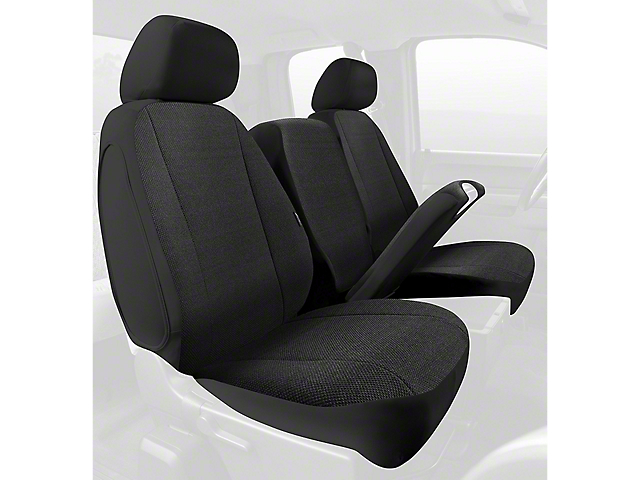 Fia Custom Fit Solid Saddle Blanket Front Seat Cover - Black (09-18 RAM 1500 w/ Bench Seat)