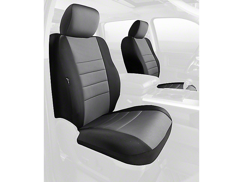 Fia Custom Fit Neoprene Front Seat Covers - Gray (09-18 RAM 1500 w/ Bucket Seats)