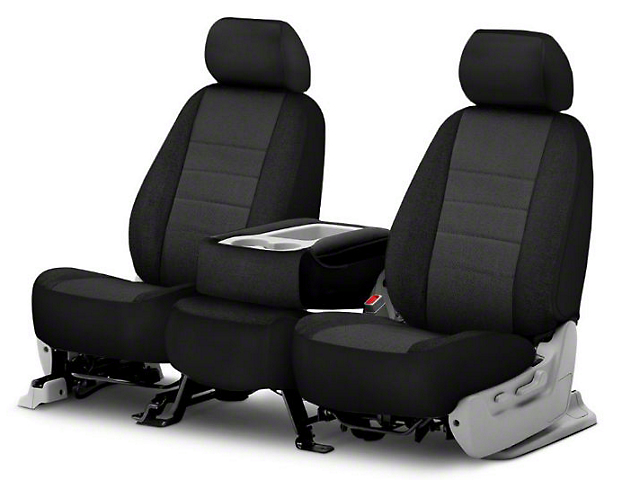 Fia Custom Fit Tweed Front Seat Covers - Charcoal (09-18 RAM 1500 w/ Bucket Seats)