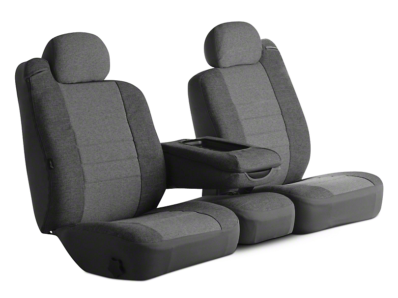 Fia Custom Fit Tweed Front Seat Covers - Gray (09-18 RAM 1500 w/ Bucket Seats)