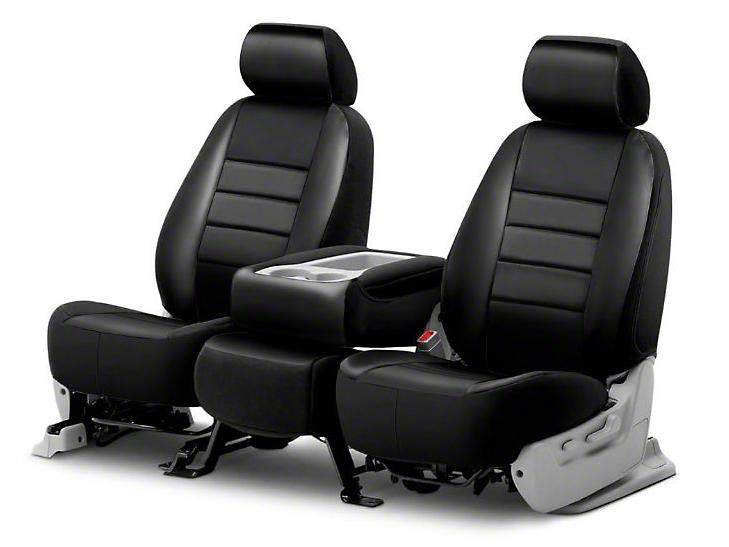 Fia Custom Fit Leatherlite Front Seat Covers - Black (09-18 RAM 1500 w/ Bucket Seats)